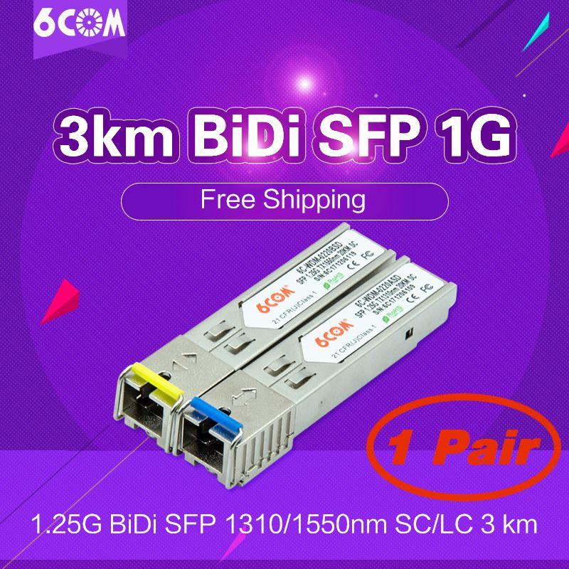 3 km BiDi SFP 1G (Bidirektionale, WDM, 1,25 Gbps, SC) DOM/DDM/DDMi (GLC-BX-D, GLC-BX-U, D/U, A/B, 1310/1550) BiDi Transceiver