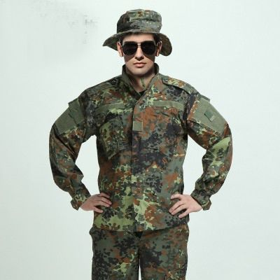 Costume de Camouflage militaire armée allemande bois costume de Camouflage militaire ACU BDU ensembles CS Combat tactique Paintball uniforme veste et pantalon