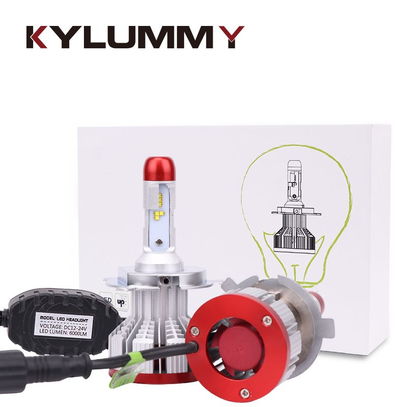 LED H1 H3 H4 H7 9005 9006 H13 H11 H27 Headlight Bulbs Car ZES LED Hi Lo Beam DC 12V 24V 32w 6500K 12000LM Headlamp Fog Lights