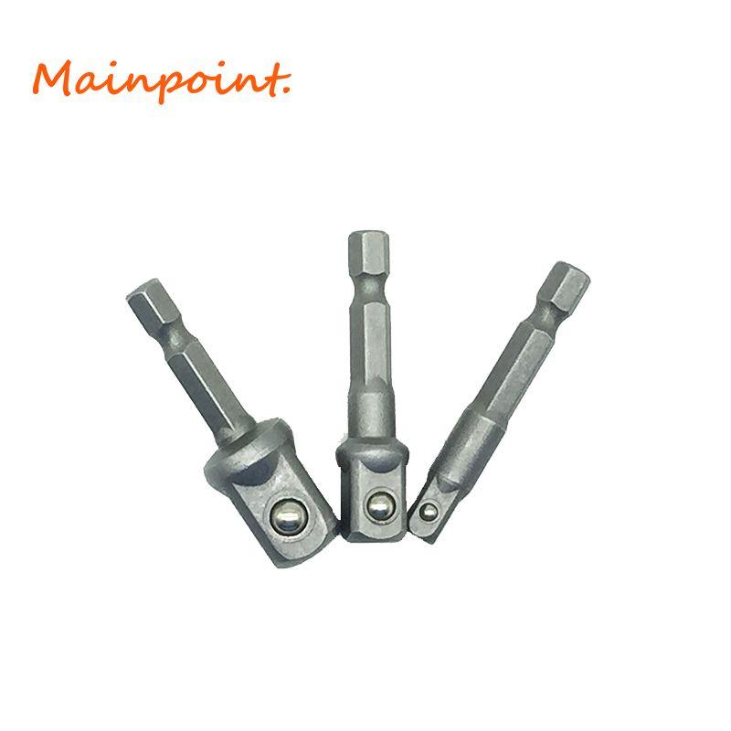 3 Stücke 1/4 3/8 1/2 Innensechskant Fahrer Adapter Set Hammer Elektroschrauber Kopf Anschluss Rrod Bohrfutter Buchse Werkzeuge Sets