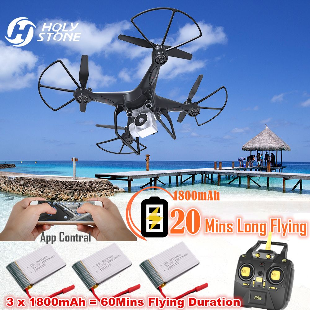 New Holy Stone HS20 Drone with Camera HD 20 mins long battery Wifi FPV RC Helicopter 6-Axis Gyro Quadcopter APP Control Headless