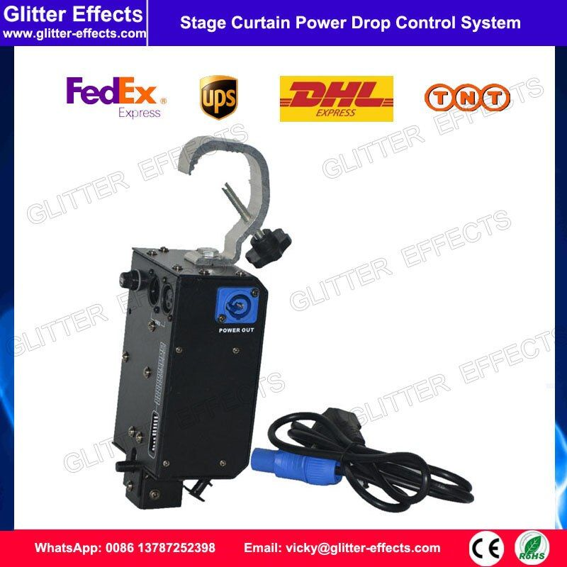 Stage Power Drop Control System DMX Controlled Hook Stage Screen Concert Curtain Kabuki Drop