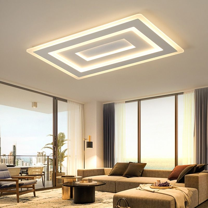 NEO Gleam Ultra-thin Surface Mounted Modern Led Ceiling Lights lamparas de techo Rectangle acrylic/Square Ceiling lamp fixtures