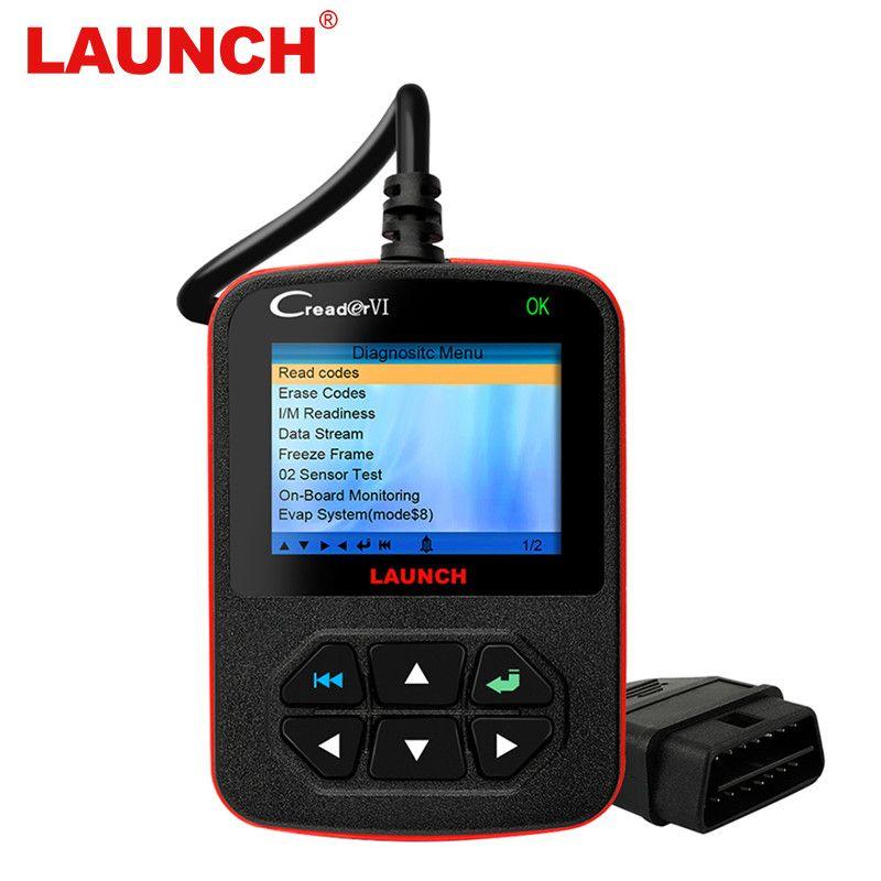 Original X431 Launch Creader VI OBD OBD2 Automotivo Scanner Car Diagnostic Tool Fault Code Reader And Erase For OBD2 Car