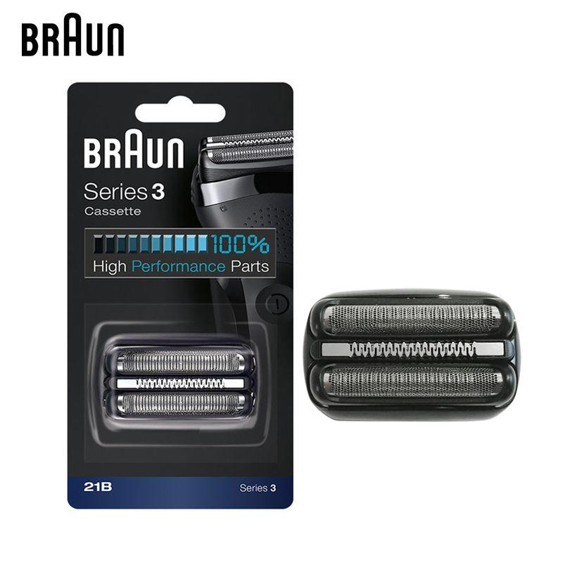 Braun 21B Électrique Rasoir Tête De Rechange Rasoir Lame Série 3 Cassette/H3 (300 s 301 s 310 s 3000 s 3020 s 3050cc 3080 s Cruzer6)