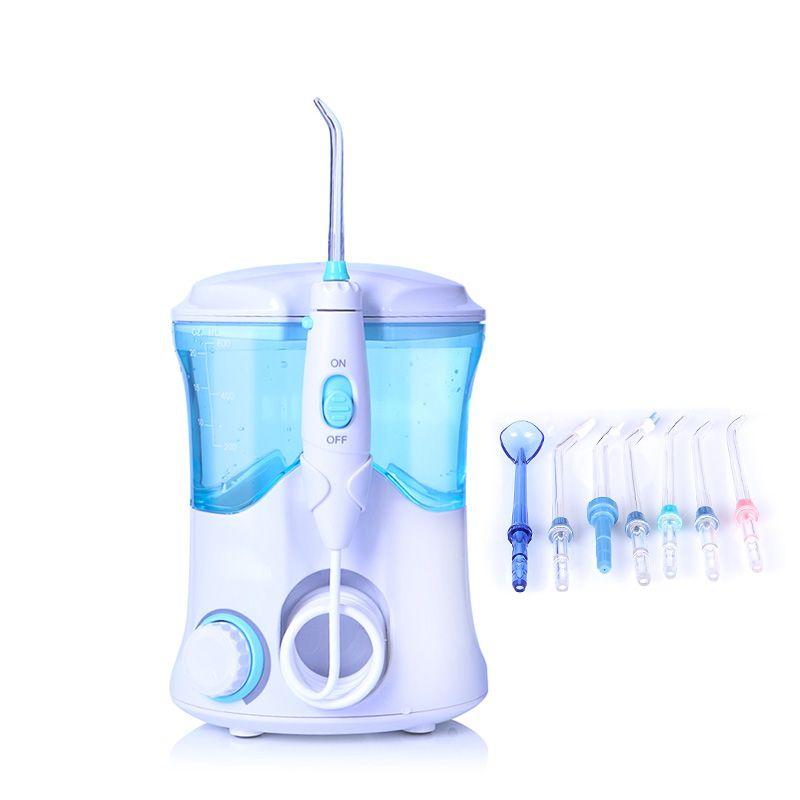 TINTON VIE FC-169 FDA Eau Flosser Avec 7 Conseils Électrique Oral Irrigator Soie Dentaire Dentaire 600 ml Capacité Hygiène Bucco-dentaire Pour famille