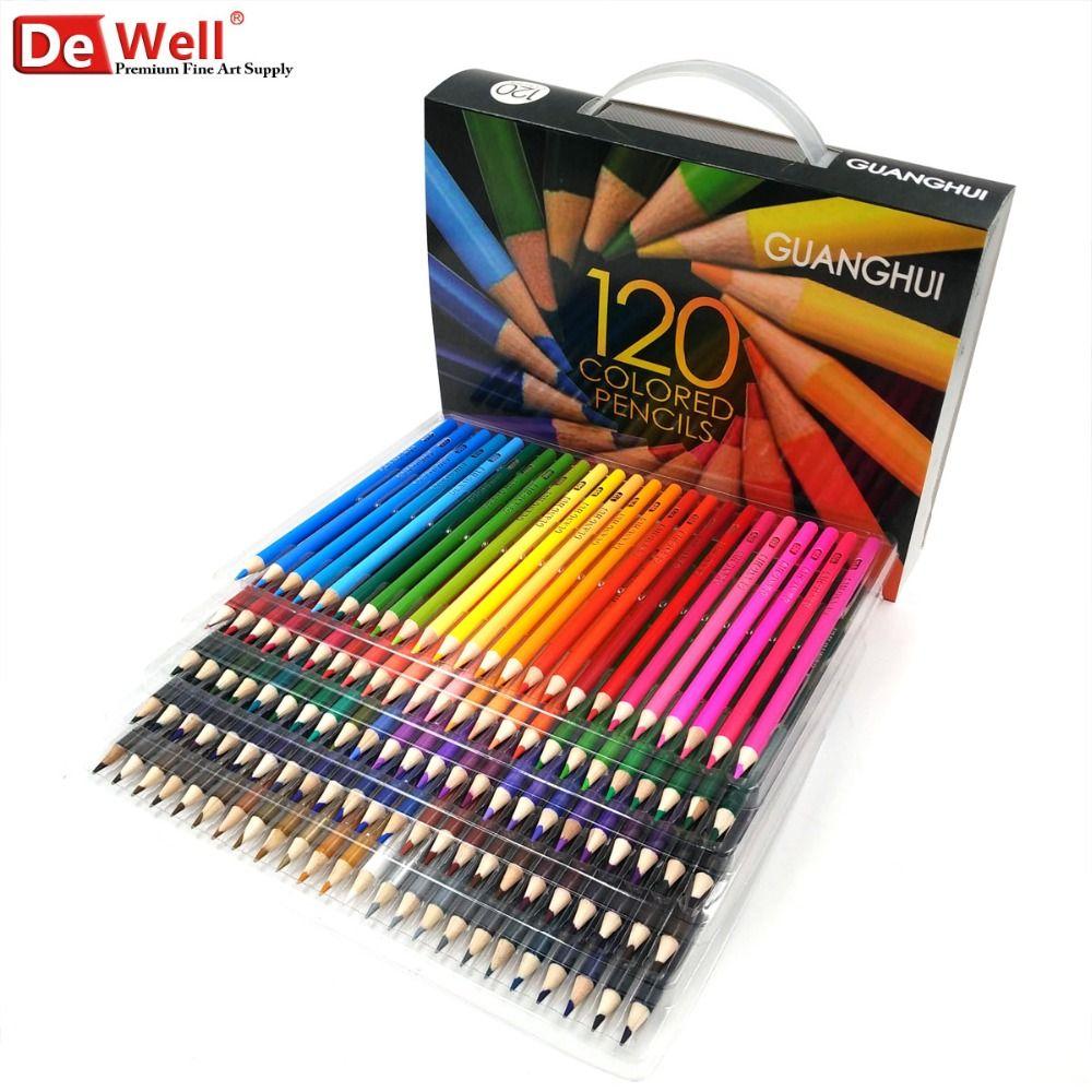 Ensemble De crayons De couleur 120/136 en bois professionnels Lapis De Cor 120 ensemble De crayons De couleur huileux De couleurs uniques pour livres De coloriage pour adultes