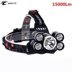 15000Lm LED Head Lamp Light XML T6 + 4R5 Faro Recargable 18650 Cabeza de La Linterna de La Antorcha Que Acampa Pesca Caza Linterna