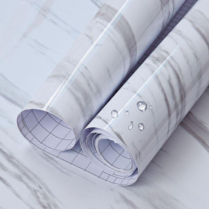 Marbre Auto-adhésif Papier Peint Peel et Bâton Amovible Contacter Papier Pour Les Comptoirs De Cuisine Salle De Bains Salon Mur Papier
