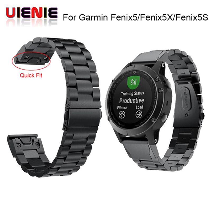 26 22 20 mm Quick Release Easy Fit Stainless steel Watch Wrist band Strap for Garmin Fenix 5X 5 5s 3 3HR S60 D2 Mk1 Smart watch