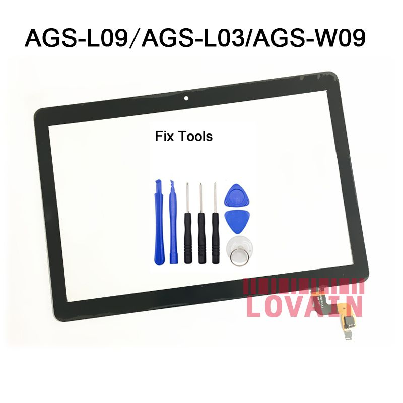 LOVAIN 1Pcs Space Gray (Original) For Huawei MediaPad T3 10 AGS-W09 AGS-L09 AGS-L03 Digitizer Touch Screen LCD Outer Panel+Tools