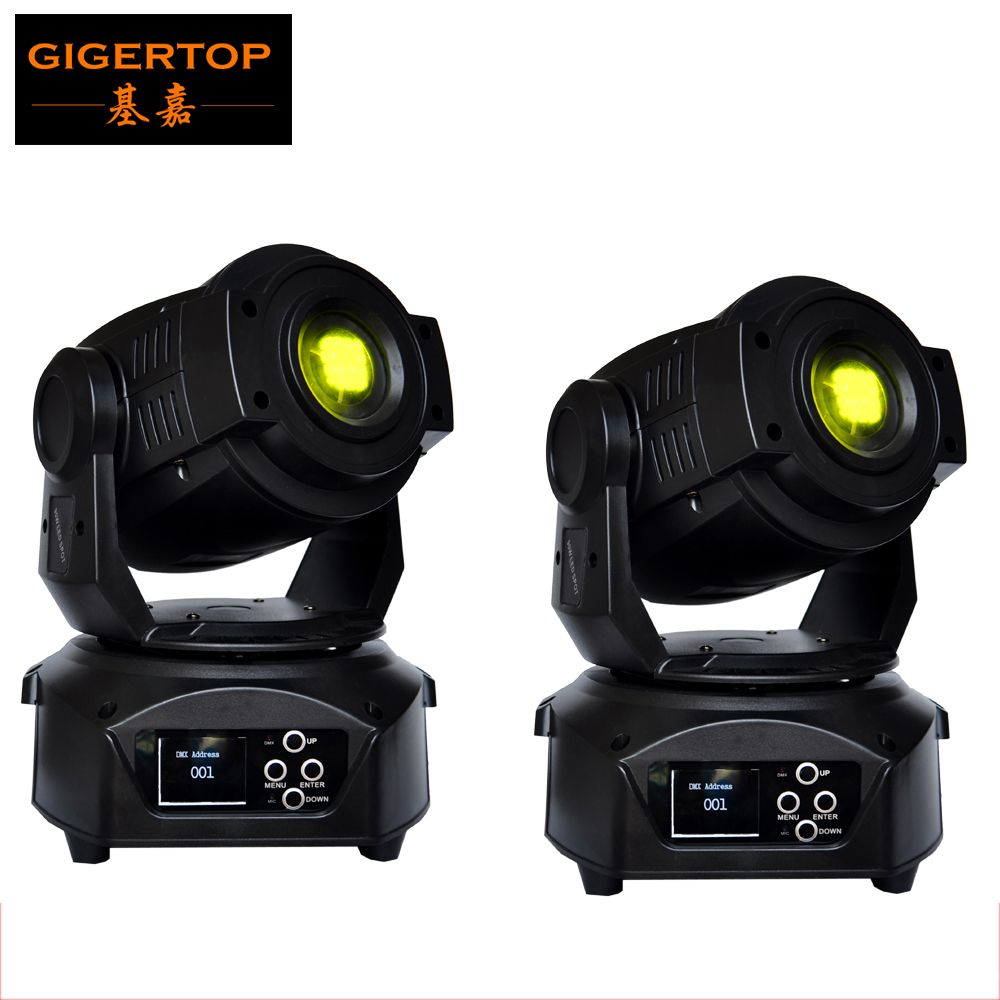 TIPTOP 2xLot American Dj Equipment 90W Led Moving Head Light Rotating / Static Gobo Wheel Interchangeable Pattern Wheel TP-L606B