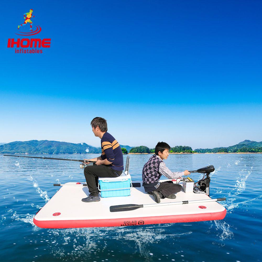 DWF Angeln Schwimm Wasser Plattform Tragen-beständig Aufblasbare Air Deck Drop-stich Dock + Paddel + Hand- pumpe für 1-3 Person