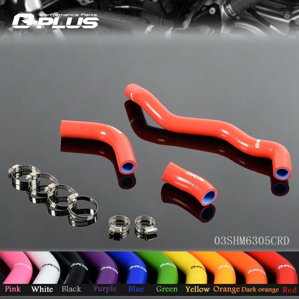 Silicone Radiator Hose Kit For Suzuki DRZ400 DRZ 400 DRZ400S DRZ400SM 2002-2011 Fluorescent