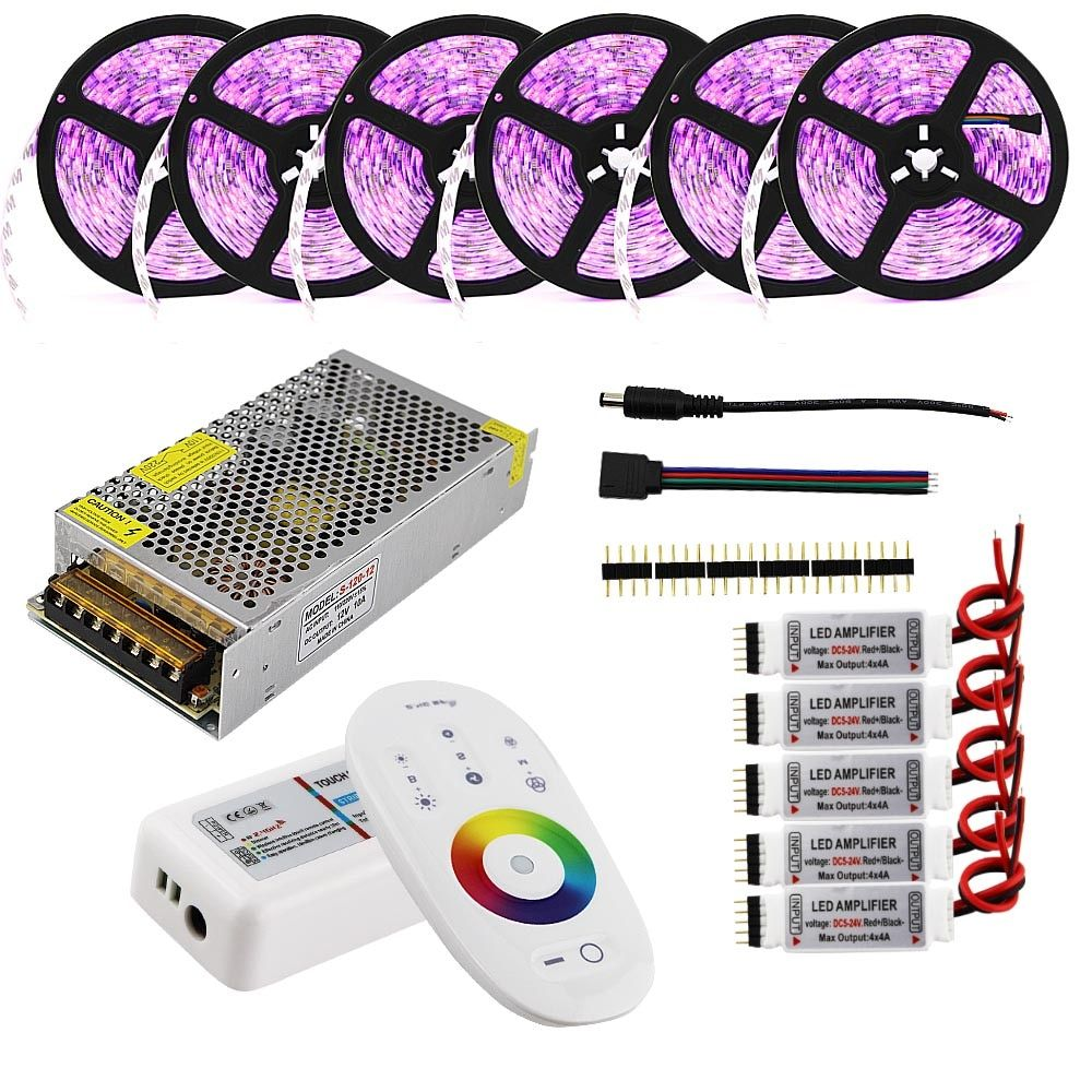 LED Strip Set 10m 20m 25m 12V RGB RGBW Waterproof 5050 Flexible 300LED Stripe 5m IP65 diode tape LED Rope Ribbons + Controller