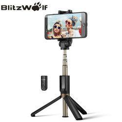 BlitzWolf 3 in 1 Wireless Bluetooth Selfie Stick Mini Tripod Extendable Monopod Universal For iPhone 8 X 7 6s Plus For Samsung