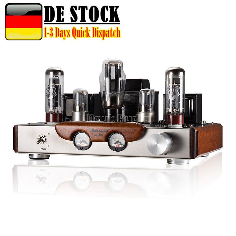 Nobsound NS-03D Hi-end Single-Ended Class A EL34 Vacuum Valve Tube Amplifier 8W*2 For Home Audio