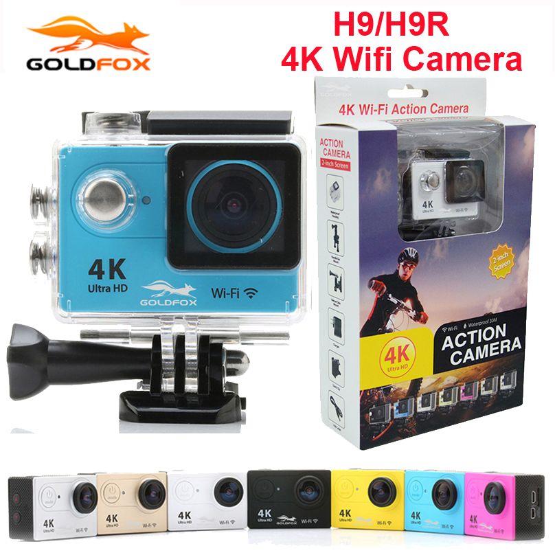 100% NEW Goldfox H9 / H9R Action Camera 4K Ultra HD 1080p go Mini Helmet Cam WiFi 2.0