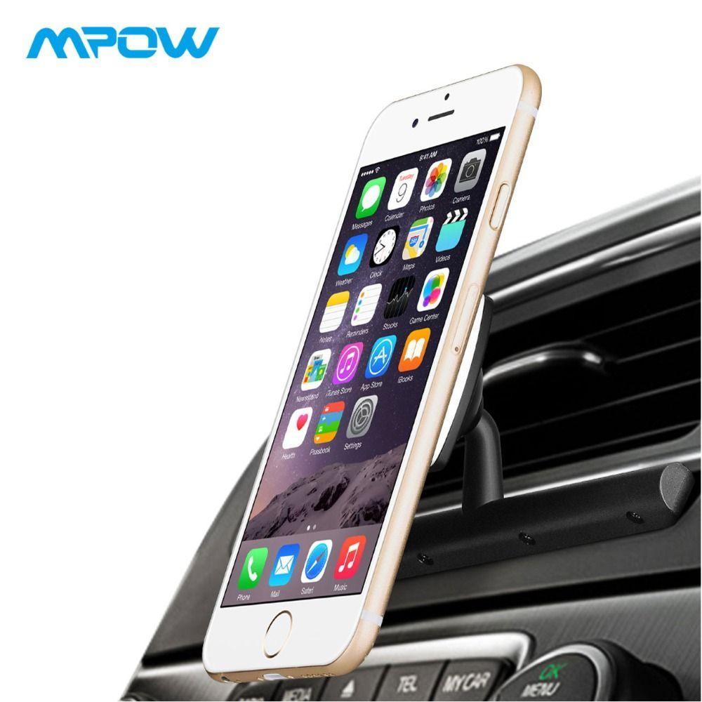 Mpow MCM9B Universel CD Support de Téléphone De Voiture sans Support Magnétique Support De Voiture De Smartphone Avec 360 Degrés Pivotant pour iPhone