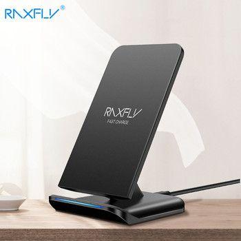 RAXFLY QI Беспроводной Зарядное устройство для samsung S9 S8 плюс Galaxy Note 8 9 S7 S6 Edge зарядки 10 Вт быстрый зарядка для iPhone 8 XR X XS MAX