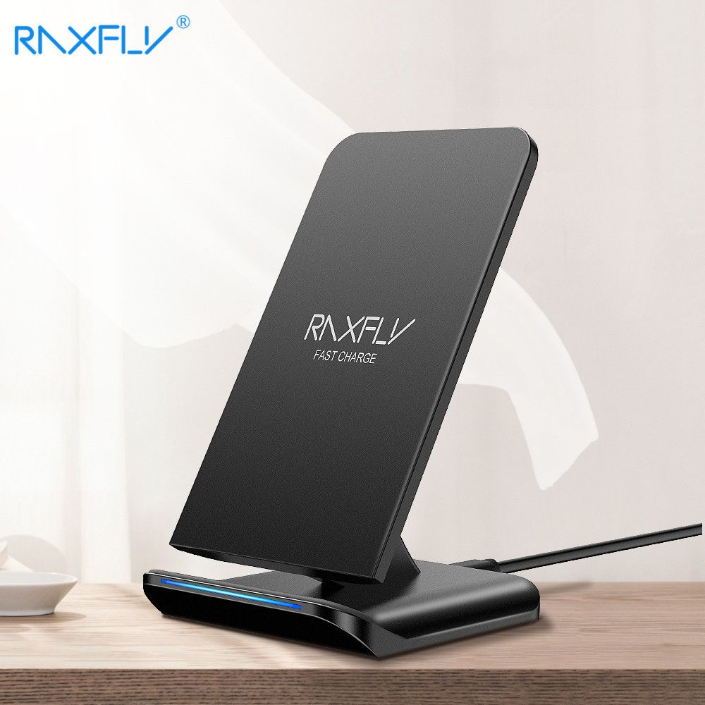 RAXFLY QI Wireless Charger For Samsung S9 S8 Plus Galaxy Note 8 S7 S6 <font><b>Edge</b></font> 5V/1.8A Charging 10W Quick Charge For iPhone 8 X Plus