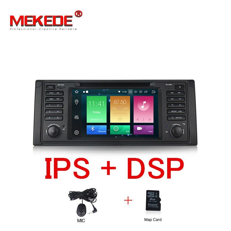 MEKEDE PX5 7 HD IPS 8 Core Android 8.0 GPS Navigation Auto DVD Player für BMW E39 5 Serie/ m5 1997-2003 mit DSP RDS Canbus