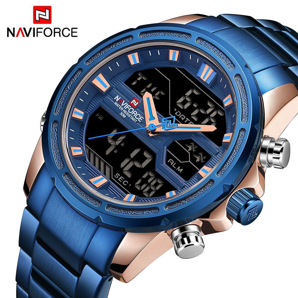 NAVIFORCE Mens Watches Brand Luxury Fashion Casual Sport Watch Digital Quartz Men Clock Military Wristwatch Relogio Masculino