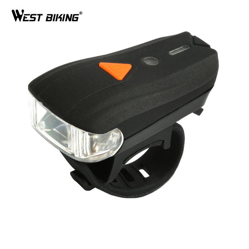 WEST BIKING USB Rechargeable Bike Light Front Handlebar Cycling Led Battery Flashlight Torch <font><b>Headlight</b></font> Bicycle Accessories Light