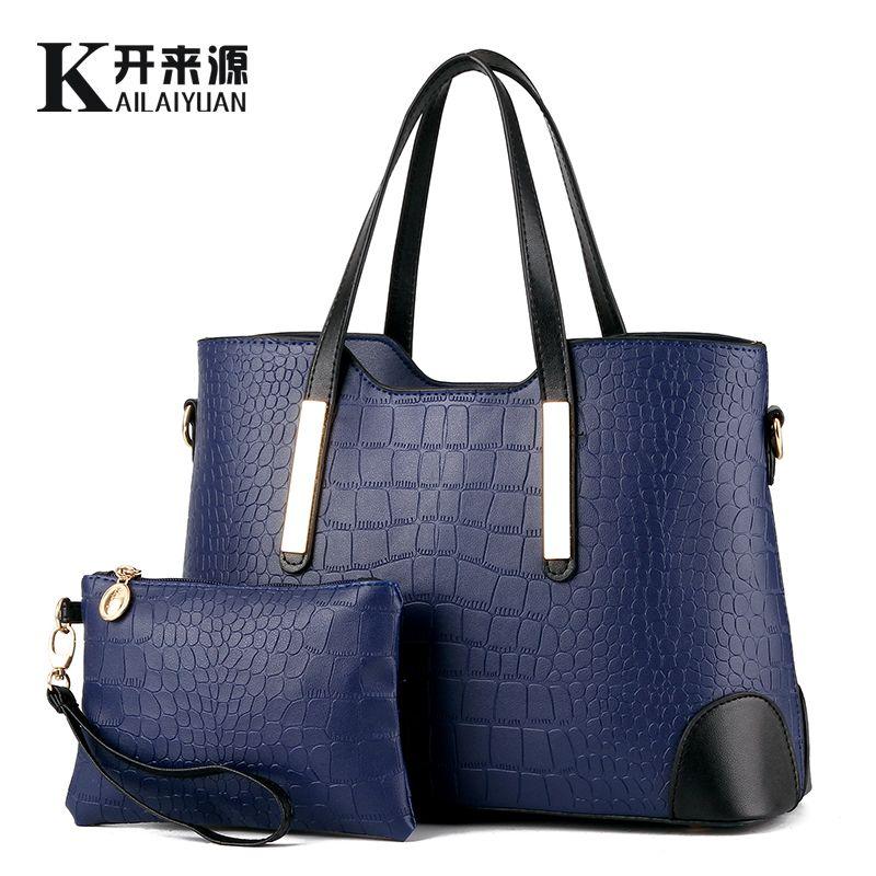 KLY 100% Genuine leather Women handbags 2018 New female bag fashion fresh spell color picture package Messenger shoulder bag