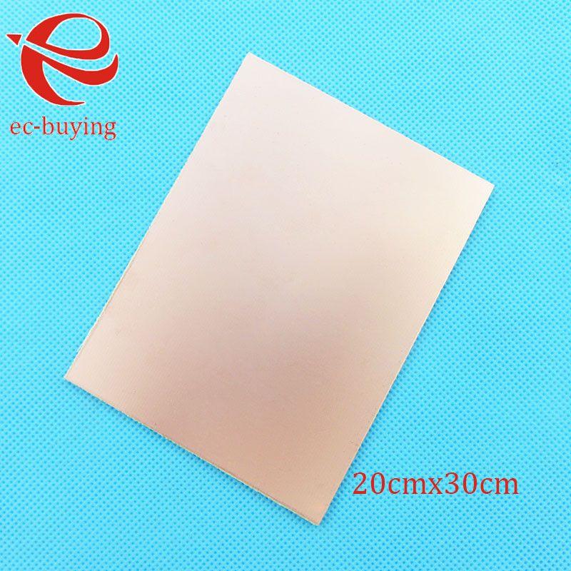 Kupferkaschierte Laminat Einem Einzigen Seitenplatte CCL 20x30 cm 1,4mm Bakelite Universalplatine Praxis PCB DIY Kit 200*300*1,4mm
