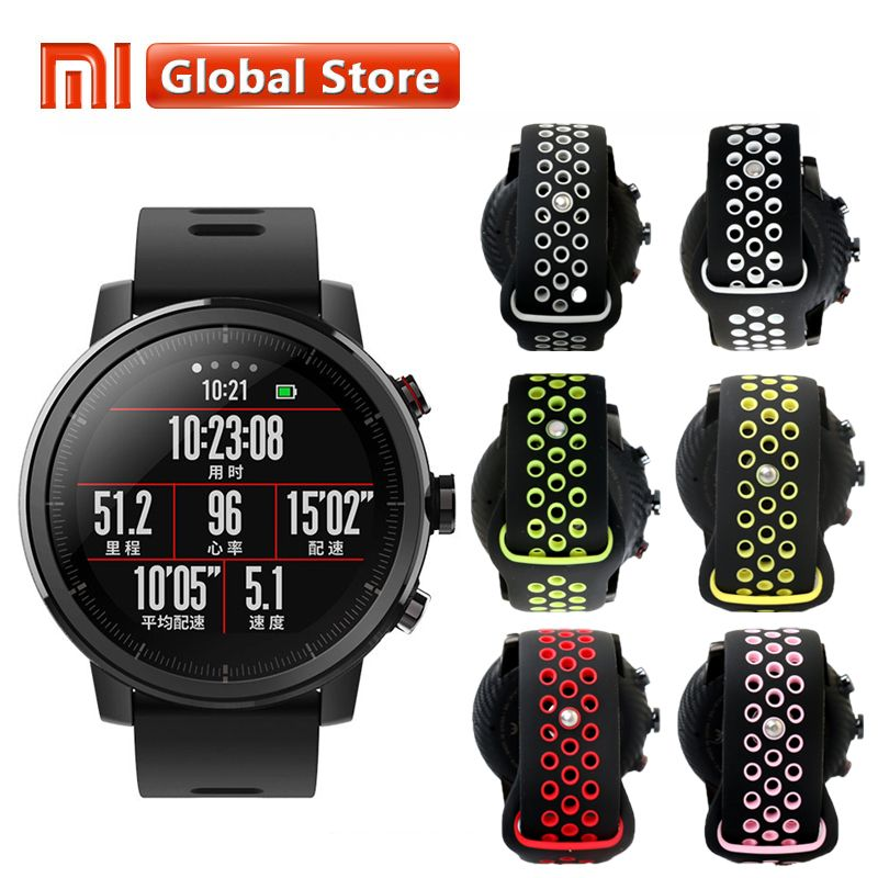Original Xiaomi Huami Amazfit Stratos Pace 2 Smart Watch With GPS PPG Heart Rate Monitor Firstbeat VO2max 5ATM Waterproof