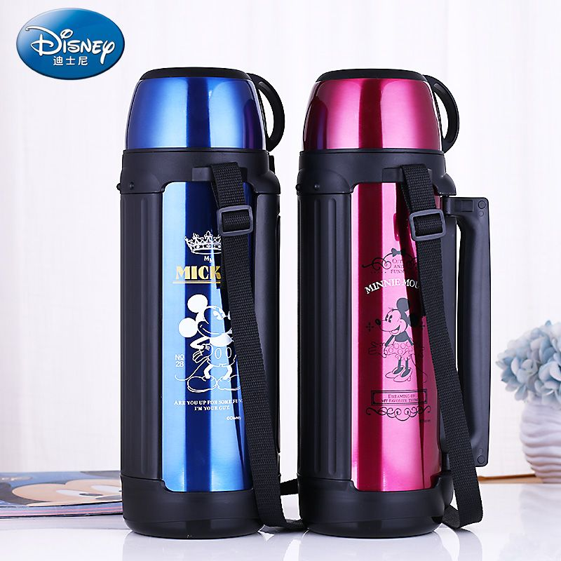 Disney Thermos kettle Stainless Steel Large Thermo Cup insulated Vacuum Flask Mug With handle Thermal Bottle For Water travel
