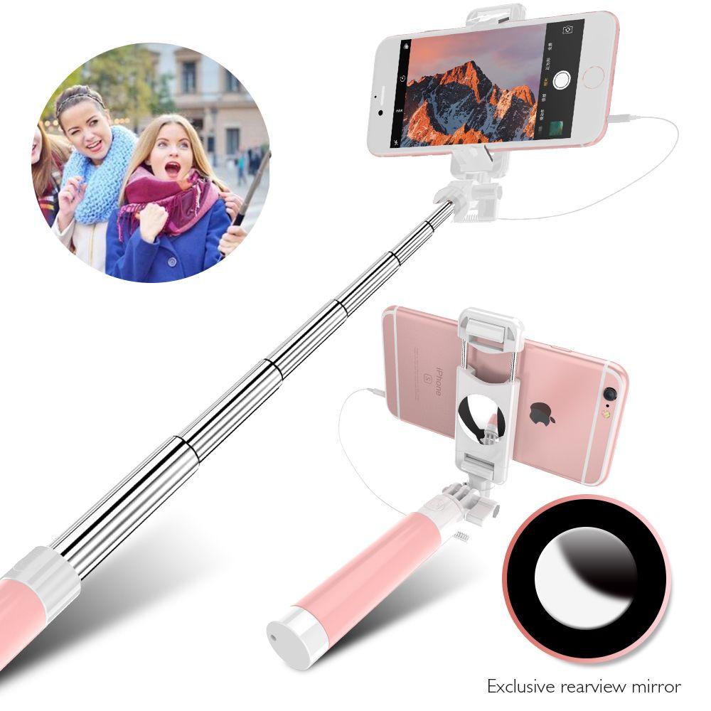 FLOVEME Verdrahtete Candy Selfie Stick Für iPhone 6 6 s Plus 5 5 s Für Android Handy Selfie Sticks Einbeinstativ für Samsung S6 s8