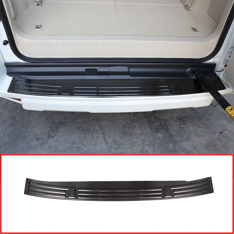 Steel Rear Bumper Protector Tail Trunk Guard Sill Plate Scuff Cover For Toyota Land Cruiser Prado FJ150 150 2010-2018 year