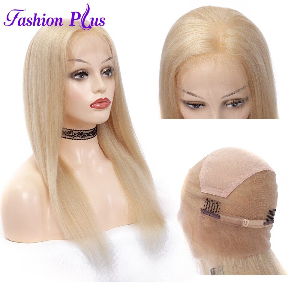 Pre Plucked Full Lace Human Hair Wigs 613blonde Brazilian Virgin Hair Wigs For Women Human Hair Wigs 12''-28'' Can Be Customized
