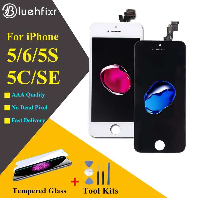 AAA Quality For iPhone 5S 5 5C SE LCD Screen for iPhone 6 Display Digitizer Touch Screen with Gifts Tools+Glass film