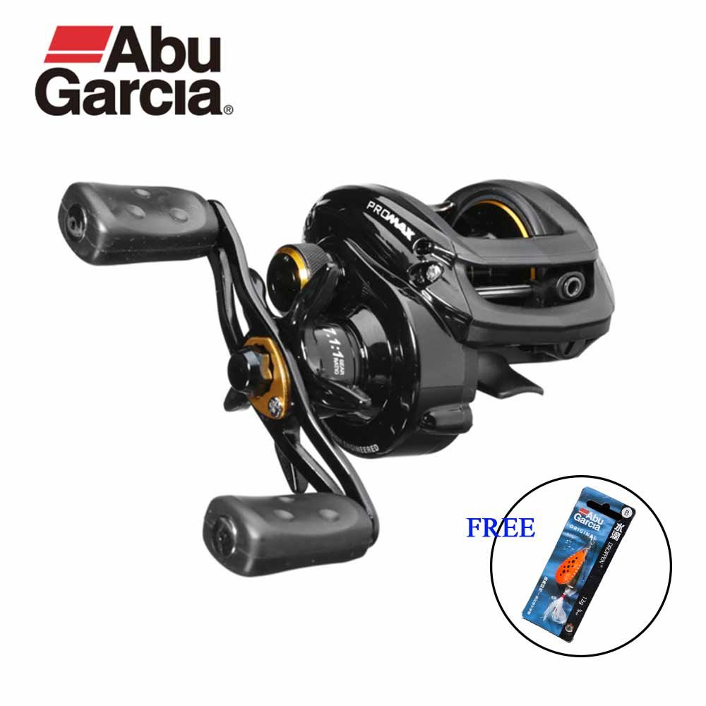 Abu Garcia Pro Max Angelrolle Low Profile baitcasting-rollen Water Drop Rad 7,1: 1 8 KG Power 7 + 1BB erhalten Orginal Locken freies