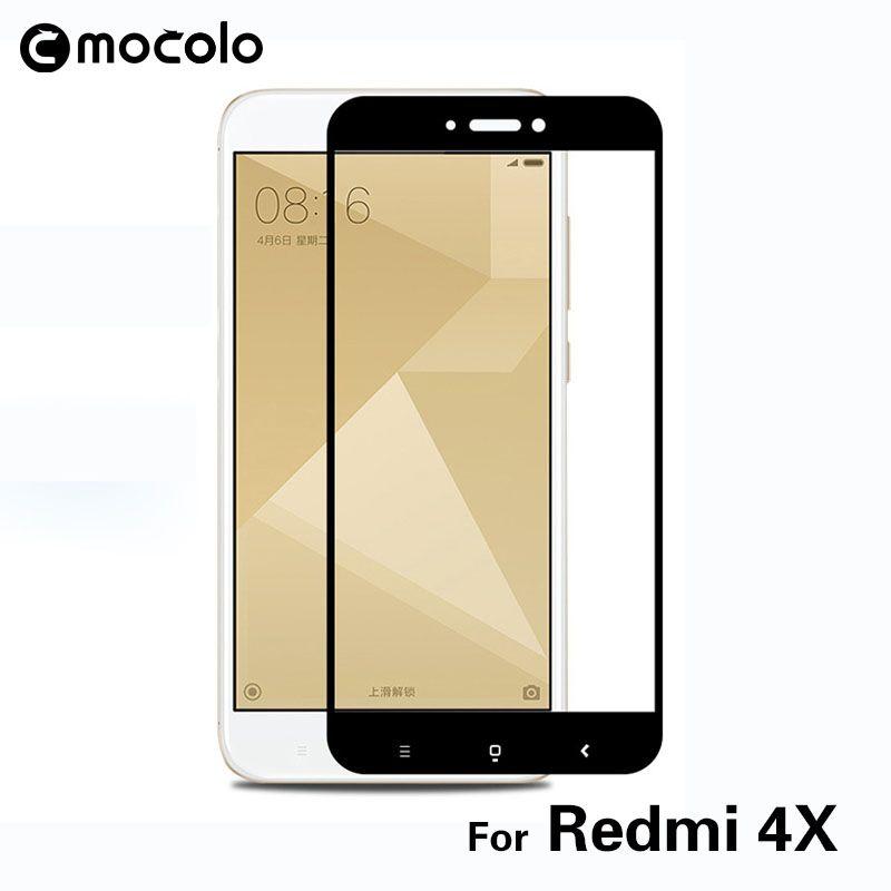 Mocolo pleine colle verre trempé couverture complète écran protecteur 2.5D Film de protection pour Xiaomi Redmi 4X haute qualité Redmi 4X verre
