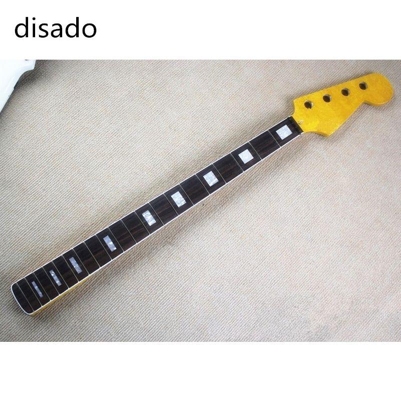 20 frettes érable guitare basse électrique cou palissandre fingeboard accessoires guitare pièces guitarra instruments de musique