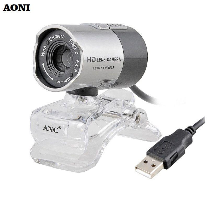 AONI Computer HD Kamera Fahrer USB 2.0 Webcam Kamera Hohe Qualität Web Cam Mit Eingebautem Mikrofon Für Computer PC Laptop