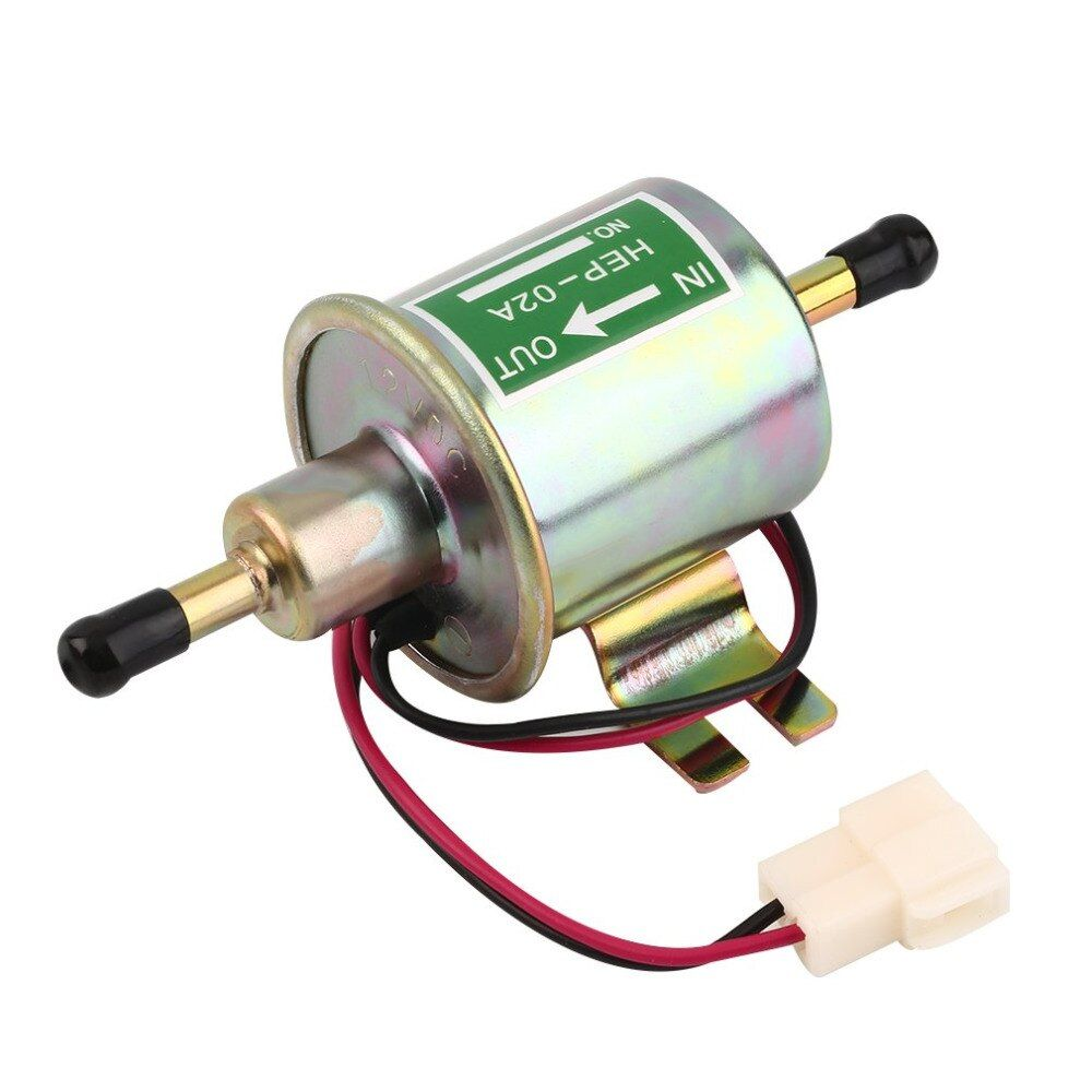 12V Universal Car Electric Fuel Pump Low Pressure Aluminum Oil Burning Pump Gasoline Petrol Diesel Fuel Feed Pump