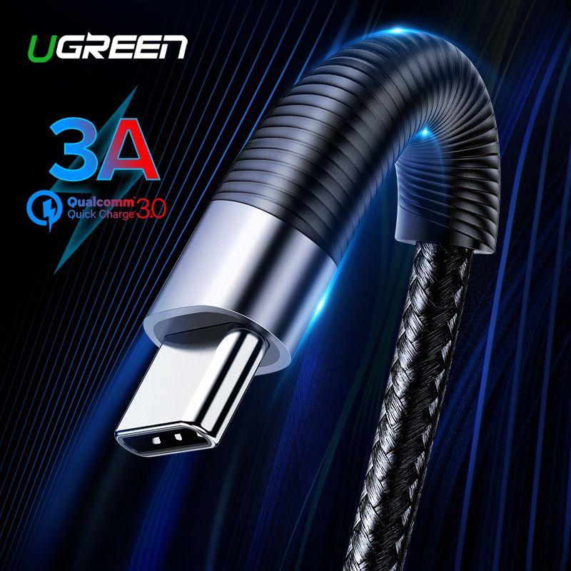Ugreen USB Typ C Kabel für Samsung S8 S9 Plus 3A Schnelle Lade USB C Ladegerät Datenkabel für Xiami mi8 Handy Ladegerät Kabel