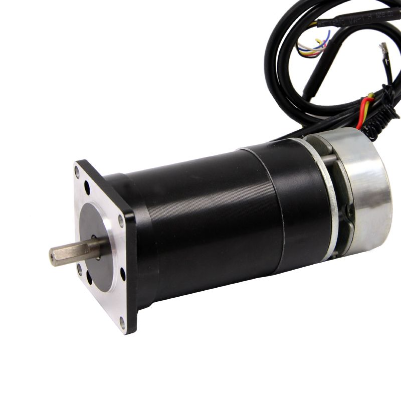 Nema23 DC Brushless Motor with Brake 24V 60W Low Speed 1000 rpm High Torque