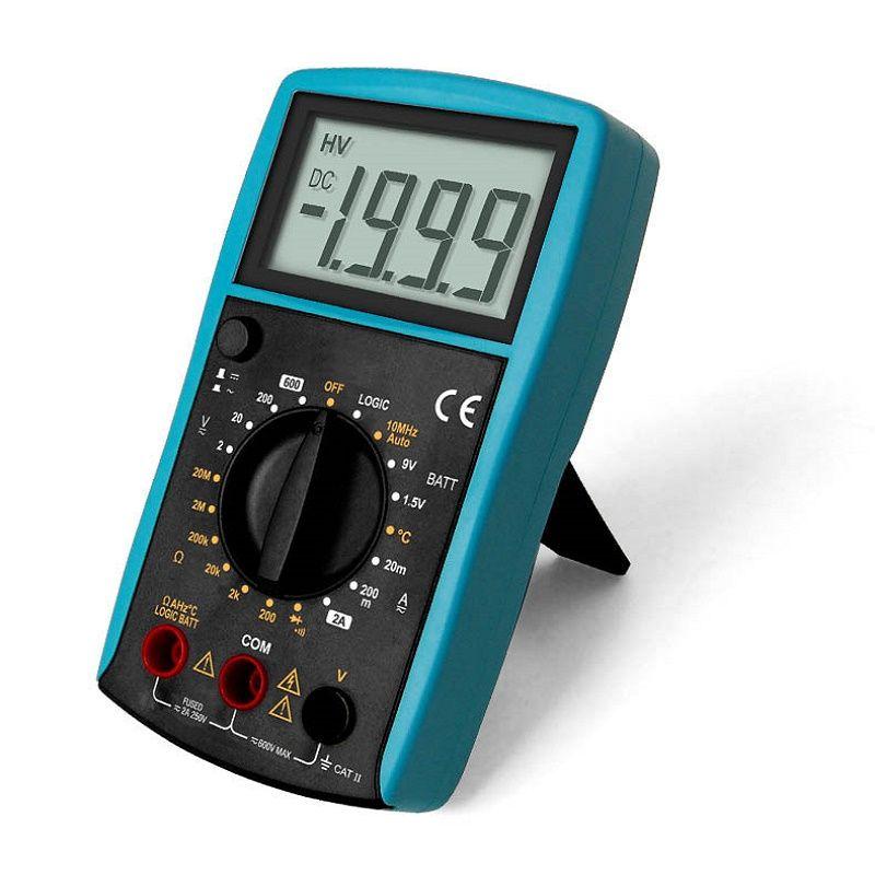 Tous-soleil multimètre numérique lcd DC/AC Voltmètre Continuité Batterie testeur de diode EM382B