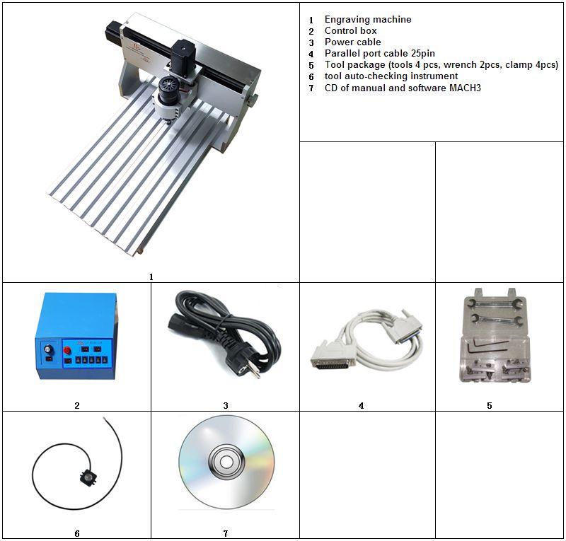 Desktop cnc stecher mini router 3020 ball schraube 500 watt mach3 control