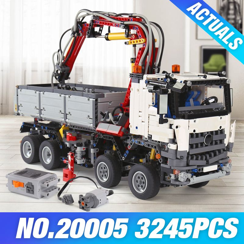 LEPIN 20005 technic series Building Block 20076 Bricks 42078 42043 Mercedes-Benz Arocs 3245 Toys 20056 Educational Gifts 42070