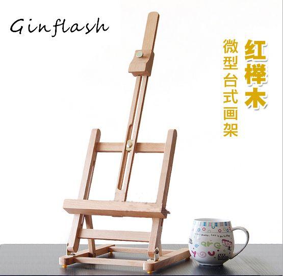 40cm Mini artiste table en bois pliant peinture chevalet cadre réglable trépied présentoir extérieur Studio présentoir cadre ACT012