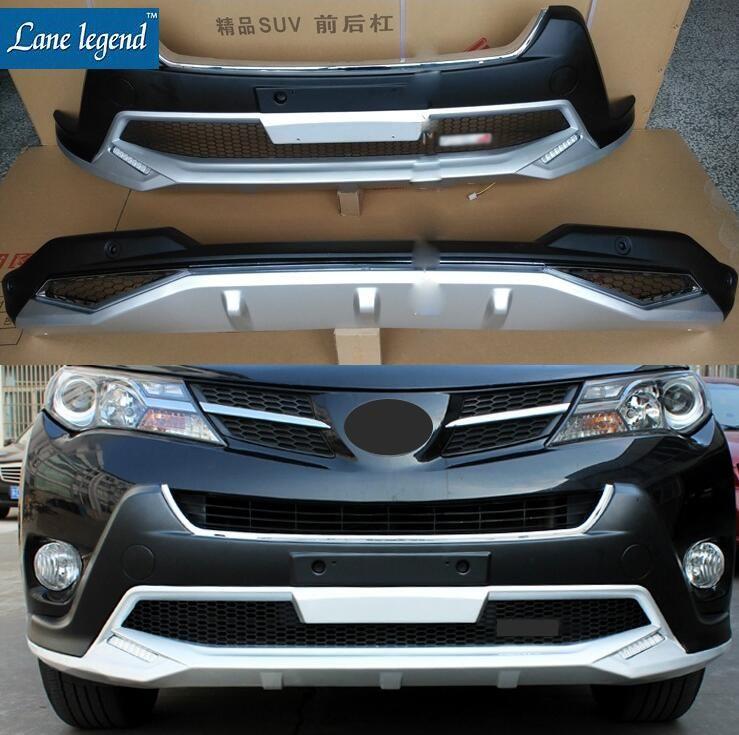 Fit für Toyota RAV4 RAV 4 2013-2015 Hohe Qualität ABS Verchromte Kunststoff Front + Hinterer Stoßdämpfer-schutz Abdeckung Trim 2 TEILE/SATZ Auto styling