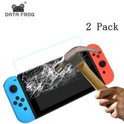 2 pack 9 h protector de pantalla de vidrio templado para Nintendo interruptor protectora Películas cubierta para Nintendo switch NS Accesorios 2017