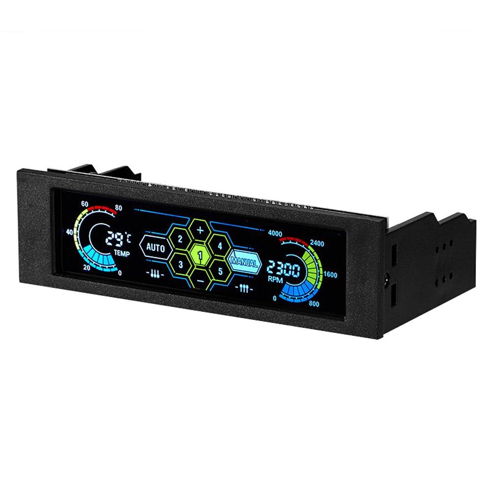 10 W 5 Ensembles LCD Tactile Écran Température Automatique Ventilateur Vitesse Contrôleur D'affichage LCD Panneau Avant Ventilateur Contrôleur D'affichage